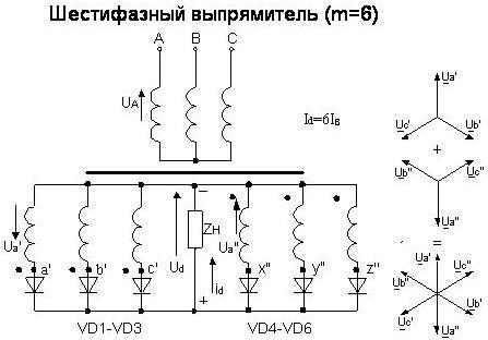 6-фазный выпрямитель