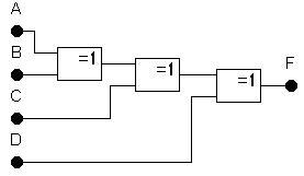 Схема на элементах Исключающее ИЛИ